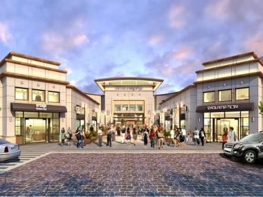 A rendering of the front entrance to the Mall at Bay Plaza, which is set to open in 2014.
