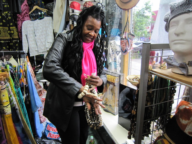 <p>Lioness Brown, a chef, said she hopes Kaarta Imports African Fabrics remains on 125th Street where EDC is planning to redevelop a garage. &quot;He&#39;s a landmark. This is part of the culture in Harlem. Without stores like this, it doesn&#39;t feel like 125th Street,&quot; said Brown.</p>