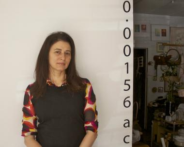 Veronica Mijelshon, independent curator and founder of 0.00156 Acres gallery.