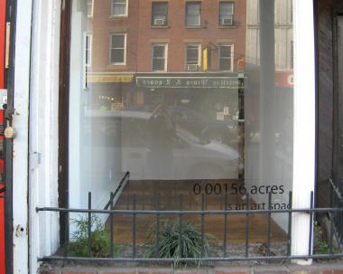 0.00156 Acres gallery sits inside a thrift store space on Smith Street in Boerum Hill.