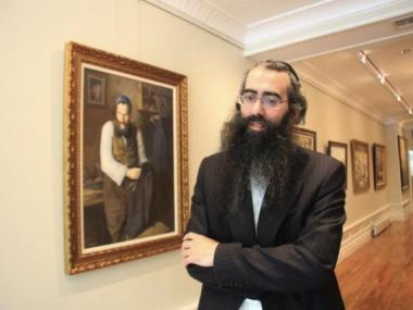Betzalel Gallery curator Shmuel Pultman has seen prices soar for Hasidic artwork.