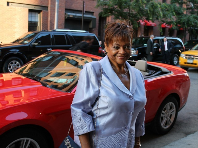 <p>City Councilwoman Inez Dickens arrived with Rep. Charlie Rangel in a red convertible.</p>