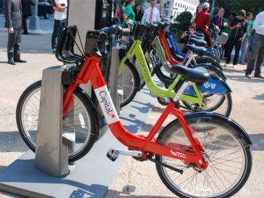 Bike share stations like the one pictured are coming to Bed-Stuy in two phases.