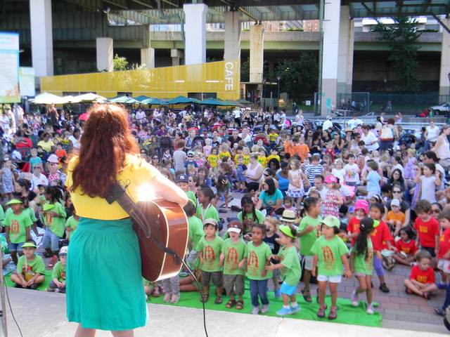 Summer on the Hudson, a series of free events in Riverside Park, includes children's concerts.