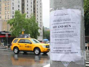 Robert Guastamacchia has covered Chelsea in posters seeking help to find his brother Peter's killer.