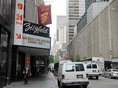 The Ziegfeld Theater said it will be closed through June 1, 2012 because of special events they are hosting.