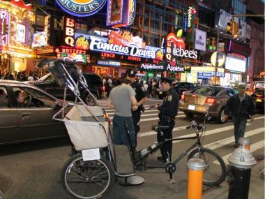 New legislation would force pedicabs to install timers and charge only by-the-minute fares.