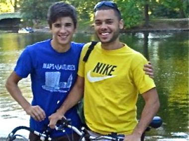 Felipe Lavalle (right) is starting Get Up and Ride bike tours in June.