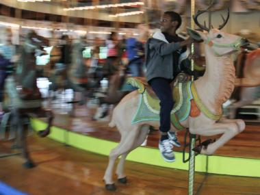 The historic Forest Park Carousel may become a landmark.