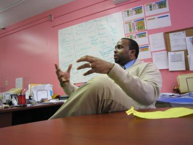Harlem's Democracy Prep Principal Emmanuel George said he wanted to become a principal to help make change.