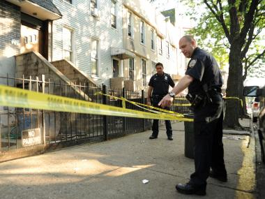 Two men were shot at 39 Weirfield St. in Bushwick on Tues., May 29, 2012.