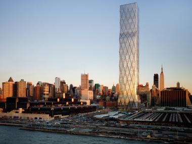 Extell's One Hudson Yards will tower 56 floors over the street.