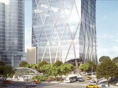 The new skyscraper will be steps from the new 7 Train extension.