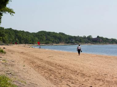 FEMA has funded a project to restore a section of Wolfes Pond Park's beach damaged from heavy rainfall from Hurricane Irene.