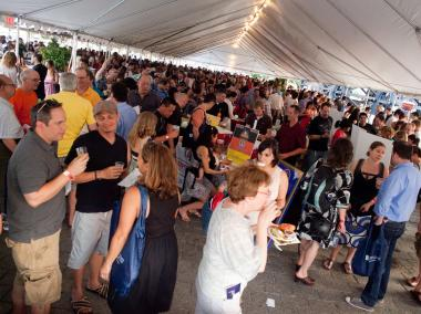 In recent years Taste of LIC has grown significantly, relocating to a big tent along the LIC waterfront at Gantry Plaza State Park