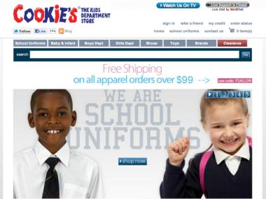 Cookies Kids.com is the web division of Cookies, the New York-based children's clothing, furniture and footwear store.