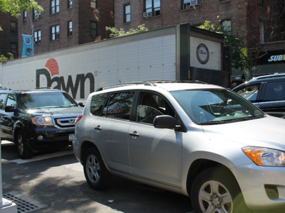 18-wheeler delivery trucks are a nuisance in Jackson Heights as they park illegally and block traffic, said Council Member Daniel Dromm