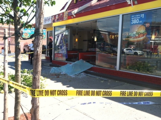 A 64-year-old woman was struck and killed at the McDonald's at 2240 Flatbush Avenue in Brooklyn on May 31, 2012.