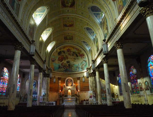 Our Lady of Pompeii, the Carmine Street church where Peter Lisi was a regular attendee until his death. Lisi, 95, was murdered in  December 2011.