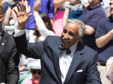 U.S. Representative Charles Rangel enjoys the annual Celebrate Israel Parade on June 3rd, 2012.