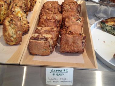 Savory and sweet scones  will be sold all day at the new Darling Coffee in Inwood.