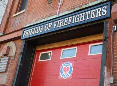 The Friends of Firefighters headquarters at 199 Van Brunt St. in Red Hook.