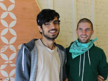Tolga Eyidemir (left) is opening Bedford Baking Studio later this month, with help from his friend head barista Zachary Zierden (right).