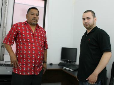 Hector Campuzano, 52, and Jorge Ramirez, 22, will soon open a new car service in the center of Hunts Point, providing new competition to the neighborhood's lone livery cab company.