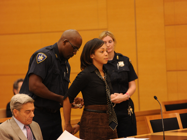 Carlotta Brett Pierce is taken away to start her sentence of 32yrs to life on Wednesday June 6th, 2012.