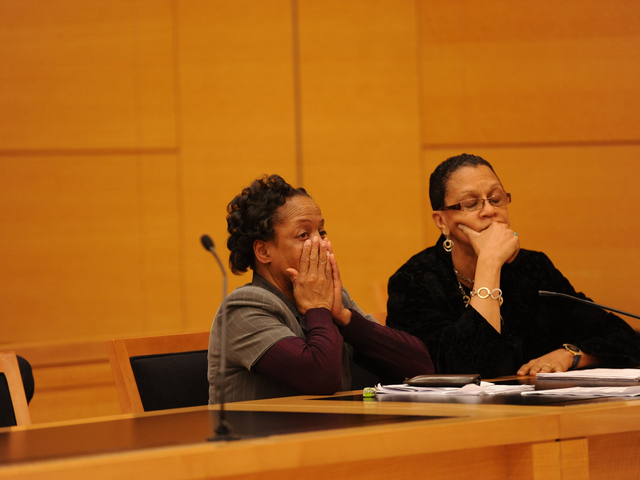 Loretta Brett listens to Judge Patricia DiMango on Wednesday June 6th, 2012.