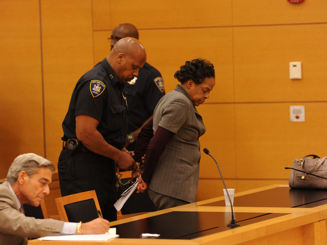 Loretta Brett is taken away to start her sentence of five to fifteen years on Wednesday June 6th, 2012.