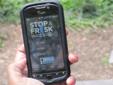 The NYCLU unveiled the new Stop-and-Frisk App Wednesday.
