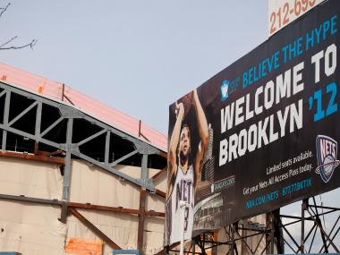 The Barclays Center in downtown Brooklyn is slated to open in the fall of 2012.