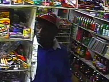 Police are looking for this man in connection with a gunpoint robbery in Crown Heights.