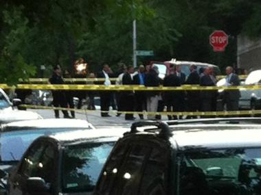 The scene of a triple homicide at West 122nd Street and Claremont Avenue June 7, 2012.