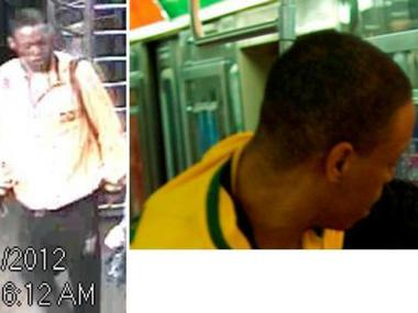 Police are looking for this who allegedly attacked another man with a pair of scissors on the D train near 125th Street on June 1.