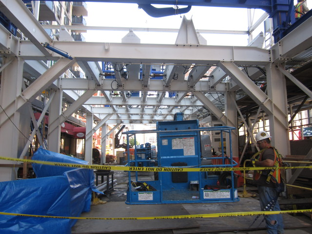 <p>Construction for the Second Avenue subway at East 84th Street.</p>