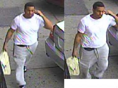 These are surveillance images from June 7, 2012 that show the suspect in the triple murder on 122nd Street and Claremont Avenue in Manhattan.