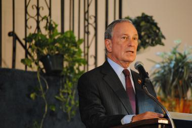 Mayor Bloomberg speaking to churchgoers at First Baptist Church of Brownsville, on June 10, 2012.