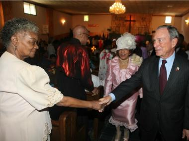 Mayor Bloomberg speaks at the First Baptist Church of Brownsville on June 10, 2012