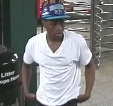 The other suspect wanted for theft on May 6, 2012 at the Lorimer Street L Station.