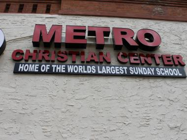 "The congregation claims it is ""home of the world's largest Sunday school."""