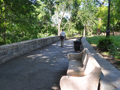 The southeast pathway along Isham Park has been the repeated scene of muggings and assaults since 2008.