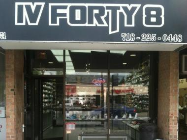 The IV Forty 8 storefront on Bell Boulevard in Bayside.