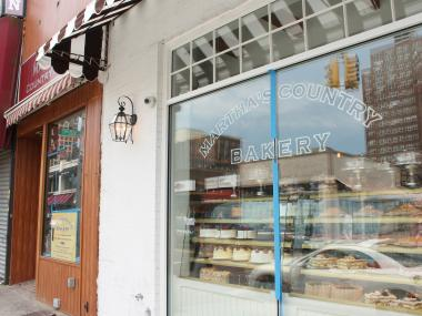 Martha's Country Bakery's new location (right) next to its old one (left).
