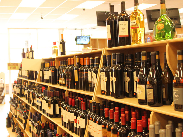 Wine house features a large selection of wines.