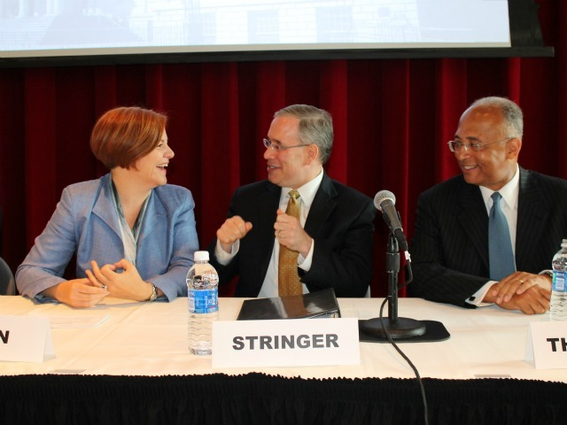 <p>City Council Speaker Christine Quinn, Manhattan Borough President Scott Stringer and former Comptroller Bill Thompson are among the top contenders for the Democratic nomination next year.</p>