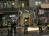 Scaffolding Struck by Truck Collapsed in Midtown