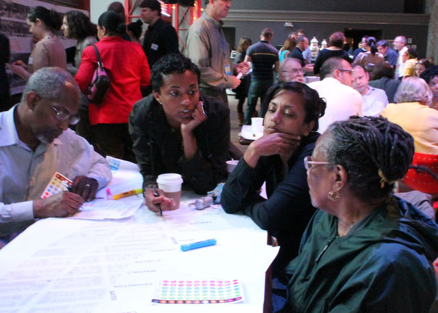 The Fulton Street Community Visioning Project at the BAM Cafe.