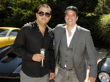 Antonio Fuccio, left, with  Nathaniel Christian at the Second Annual Ferrari Hamptons Rally at Georgica Restaurant, August 28, 2010.